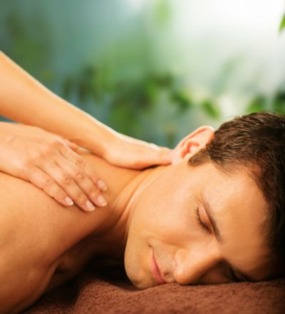 Male receiving a massage